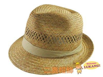☆二鹿帽飾☆ 麻豆最愛‧型男 燈心草義大利型翹尾紳士帽/ MIT製 淺咖啡織帶