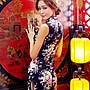 New fashion floral dress retro girl skirt casual cheongsam
