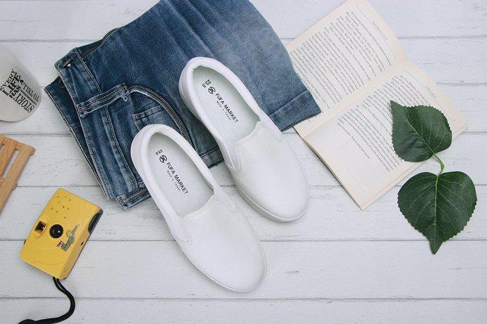 富發牌。女鞋。8023H 不簡單純白厚底懶人鞋 厚底休閒鞋  (白) (23-25.5號) ~nanakids娜娜童櫥