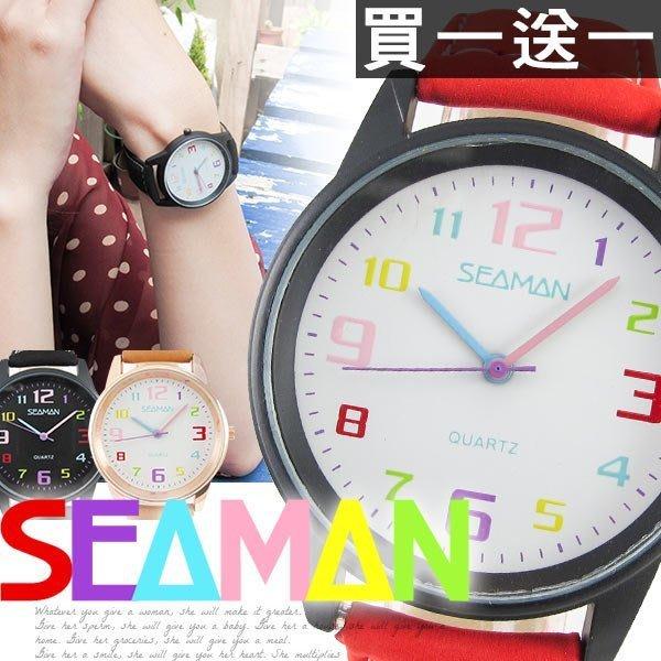 [買一送一] 麂皮手錶 日韓繽紛 不規則俏皮數字刻度 男女對錶 ☆匠子工坊☆【UQ0059】