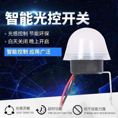 雜貨小鋪 光控開關AS20智能自動晚上亮戶外光敏感應防雨路燈控制器220V12V