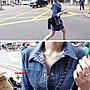 ♥ Someivy ♥ 韓 經典 超彈力 合身排扣牛仔洋  黑 / 藍  S / M