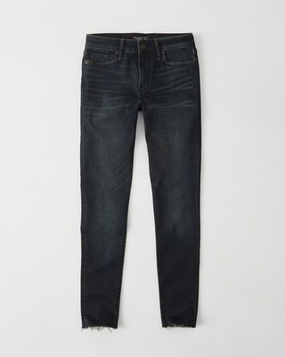 Maple麋鹿小舖 Abercrombie&Fitch * AF 深色合身牛仔褲 * ( 現貨26S號 )