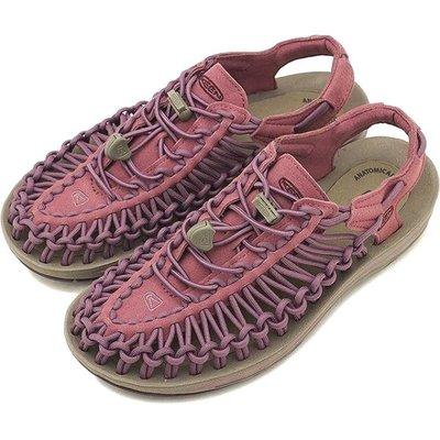 =CodE= KEEN UNEEK SLICE FADE SANDALS編織彈性綁繩涼鞋(粉紫)1019939 拖鞋 女