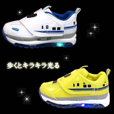 Cryin 【日本小姐原廠】日本正品PLARAIL 新幹線 LED發光 輕量 兒童運動鞋  鐵道王國 電車 男童鞋
