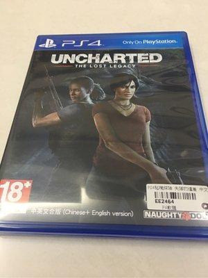 PS4 秘境探險 失落的遺產 光碟無刮 Uncharted The Lost Legacy 中文版 密境探險 中文