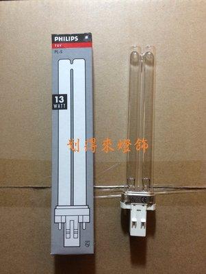 現貨~PHILIPS飛利浦 TUV 13W PL-S UVC 殺菌燈管 歐洲製 紫外線殺菌燈管