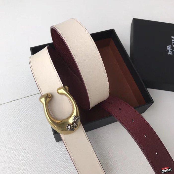 【全球購.COM】COACH 31114 30921 女式腰帶 皮帶 雙面可用 經典logo 美國代購
