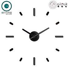 【鐘點站】On Time Wall Clock 黑底白線-壁貼鐘-掛鐘.無損牆面.親子DIY.居家佈置