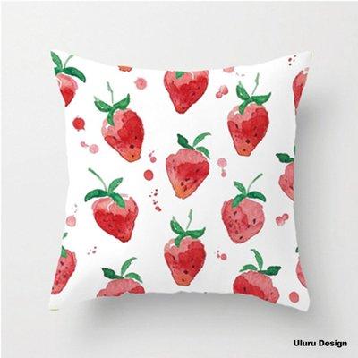 北歐風 火鶴 仙人掌 葉子 草莓 抱枕 Uluru Design 客廳 臥室 工業風 鄉村風 居家裝飾 飾品