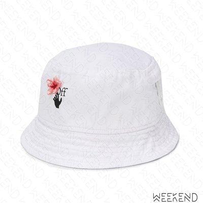 【WEEKEND】 OFF WHITE Peach Flowers 花朵 帽子 潮帽 漁夫帽 白色 20春夏