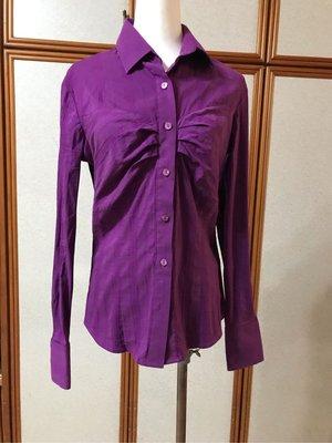 NARACAMICIE 甜美紫色長袖襯衫