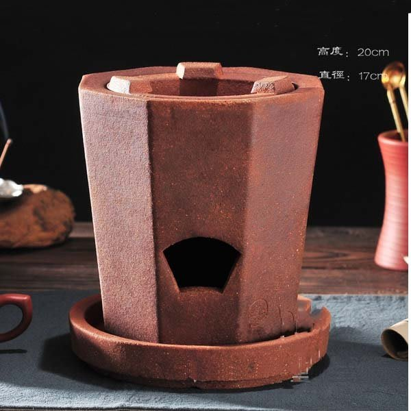 5Cgo【茗道】含稅會員有優惠 522645827623 泥爐功夫茶爐紅泥爐炭爐傳統風爐木炭橄榄碳紅泥媚娘爐茶道