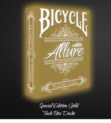 【USPCC撲克】BICYCLE LE gold ALLURE white playing cards 白金版撲克牌