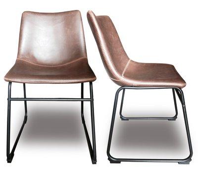 [ 椅子王。買3送一 ]--- LOFT仿舊 鐵格蘭餐椅---W縫線版《C9-1特價》