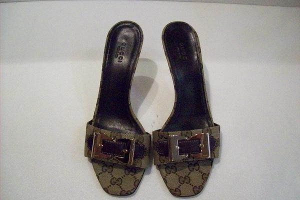 *旺角名店* Gucci 咖啡色緹花皇后包系列高跟鞋 紅底鞋 jimmy 秀款 manolo [09050301]