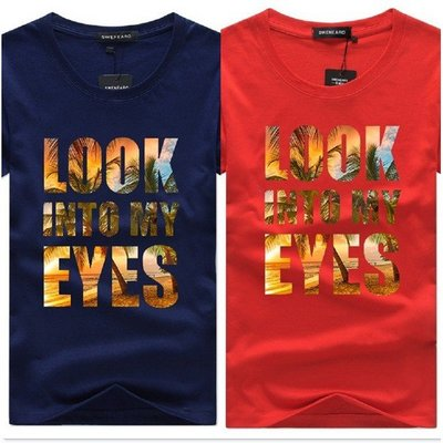 KAOS WANITA TRENDY CK200601LOOK INTO MY EYES 男 短袖 t恤