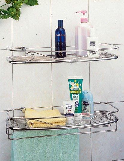 ☆成志金屬廠 ☆ s-630-2a 不銹鋼浴室雙層置物架附毛巾架,經久耐用,常保如新。浴室收納架。304不鏽鋼製