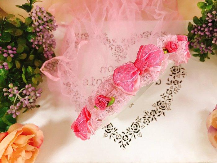 【華蕊】* H款蝴蝶結小花髮箍頭紗 * 髮圈 小花童 公主頭紗 甜美 可愛 蕾絲 花環