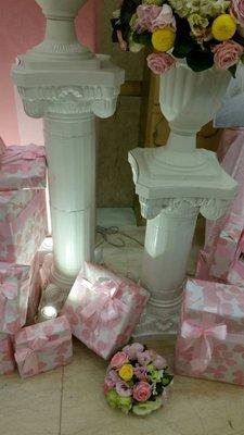 花花手作材料//布置婚禮''''編號M196-----塑膠羅馬柱88公分小的下標處