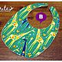 ♥gritas handmade♥純棉手作嬰幼兒圍兜兜/領巾/口水巾/三角巾/彌月禮—長頸鹿系列