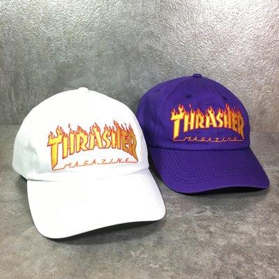 【Faithful】THRASHER Flame Old Timer Hat【144539】老帽 白/紫