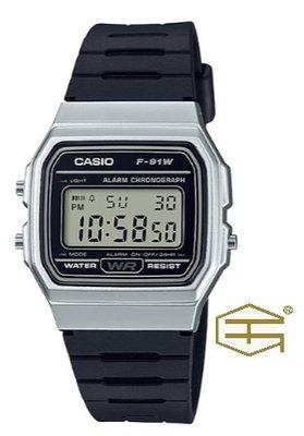 【天龜 】CASIO  經典復古  簡約電子錶  F-91WM-7A 台中市
