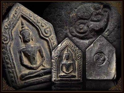 阿贊仲2497拍碰地你咪 坤平大模單印完美品項 泰國訂製純金殼 沙馬公本會驗證卡(可上網查詢)