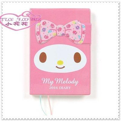 ♥小公主日本精品♥ Hello Kitty 美樂蒂 年曆本 2016磁鐵套日誌本 行事曆本大臉薔薇 60218209 新北市