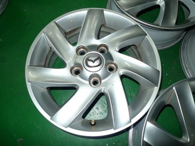【小李輪胎聯盟】15吋5孔114.3 馬自達原廠中古鋁圈 中古鋁圈 有保固圈可回估