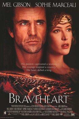 英雄本色 (Braveheart) - 梅爾吉勃遜 蘇菲瑪索 - 美國原版雙面電影海報 (1995年)