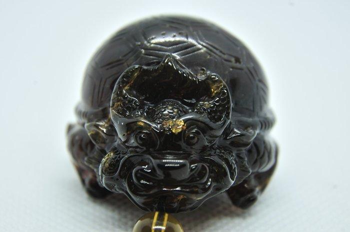 緬甸琥珀 棕紅珀 紫羅蘭珀 金棕珀 紫羅蘭龍龜(付普通證書)