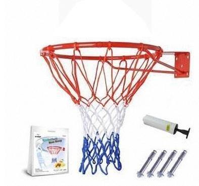 【籃球框-加強版標準款-45cm-鋼材+噴塑-1套/組】(送打氣筒+3色籃網+4個膨脹螺絲)-56007
