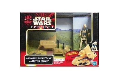 HASBRO 星球大戰 STAR WARS EPISODE I ARMORED SCOUT TANK WITH BATTLE DROID (BUY-84367)