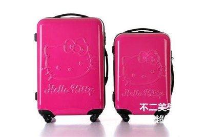 【格倫雅】^hello Kitty ABS拉桿箱K貓 卡通行李箱20/24寸旅行箱20