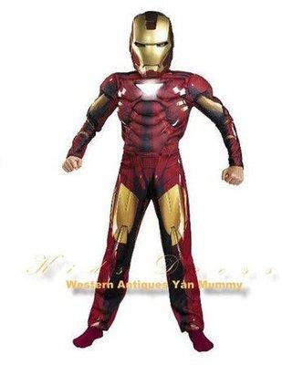 妍媽咪兒童禮服出租~新鋼鐵人2 肌肉發光服裝Iron Man 2 ~萬聖節造型表演走秀
