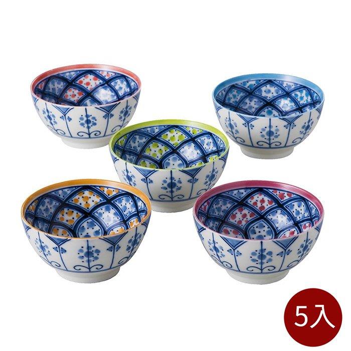 【日本bloom-plus】美濃燒 馬拉喀什民族風碗-5入組