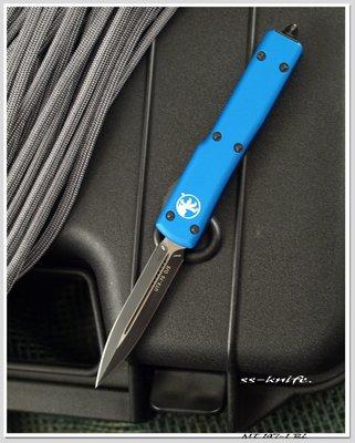 雙雄Microtech UTX70 新款藍柄黑色平刃戰術刀(204P鋼) 型號:MT 147-1 BL