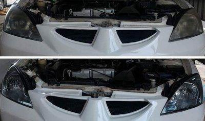 大燈快潔現場施工 Mitsubishi 三菱 GLOBAL LANCER VIRAGE 原廠車大燈泛黃霧化拋光修復翻新