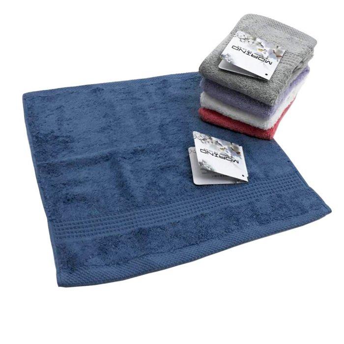 【MORINO摩力諾】有機棉歐系緞條方巾(超值4件組)免運