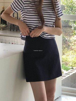 小朵家~韓國東大門  PLAT BASE1032004     麻100% 簡約氣質純色半身短裙