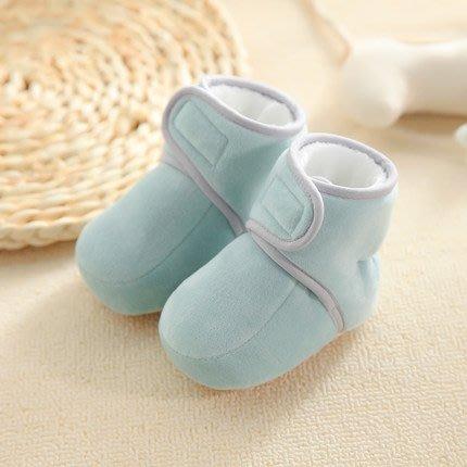 嬰兒鞋 0-3一6個月男嬰兒鞋子秋冬步前鞋襪女寶寶軟底不掉1歲學步新生兒