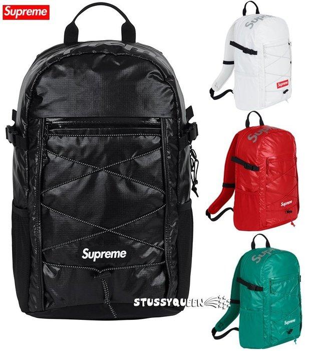 【超搶手】全新正品 2017 秋冬 FW Supreme backpack 43代 43TH 3M反光 後背包 黑紅藍白