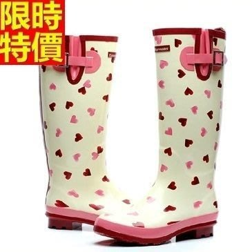 長筒雨靴子 雨具-韓版時尚甜美愛心女雨鞋子66ak38[獨家進口][米蘭精品]