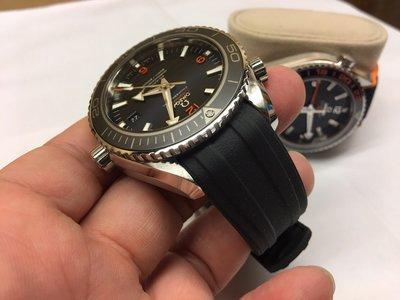 omega 海馬 seamaster 專用橡膠錶帶 300m 600m 皆可訂製 20/21/22mm 黑藍兩色
