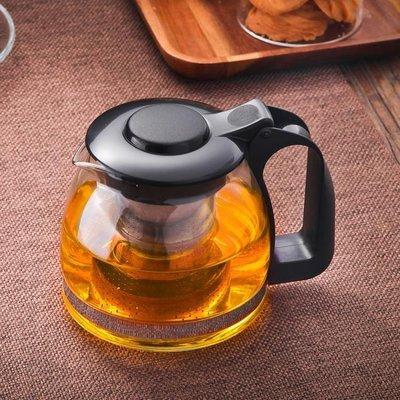 耐熱高溫玻璃泡茶壺大小號過濾家用加厚花茶壺涼水壺紅茶茶具套裝  交換禮物 咖啡杯 水晶杯 馬克杯