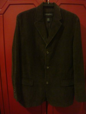 【BANANA REPUBLIC】深棕色棉絨休閒西裝外套 L號