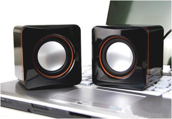 ☆寶藏點配件☆ 電腦 筆電 手機可用 可調式音量 方型 USB 3.5音源輸出 迷你電腦小音箱 喇叭  歡迎貨到付款