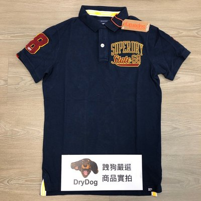 超級共和國 印度製 跩狗嚴選 極度乾燥 Superdry Polo衫 上衣 短袖 純棉重磅 網眼透氣 運動藍 深藍紅