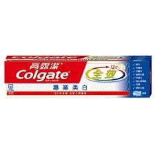 高露潔 全效牙膏-專業美白(80g)〔生活百坊〕即期品